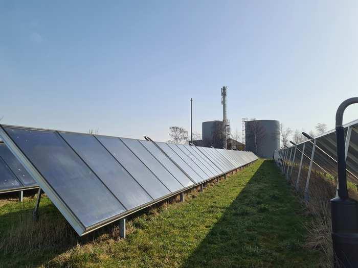 Skuldelev fjernvarme med solceller