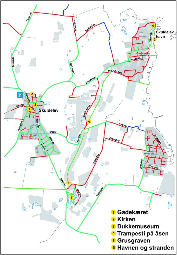 Kort over Skuldelev